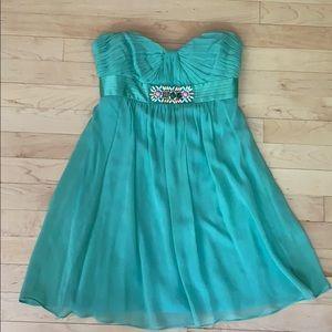 BCBG Maxazria blue green dress